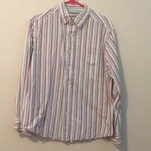 LIKE NEW Arizona Jean Company striped casual shirt